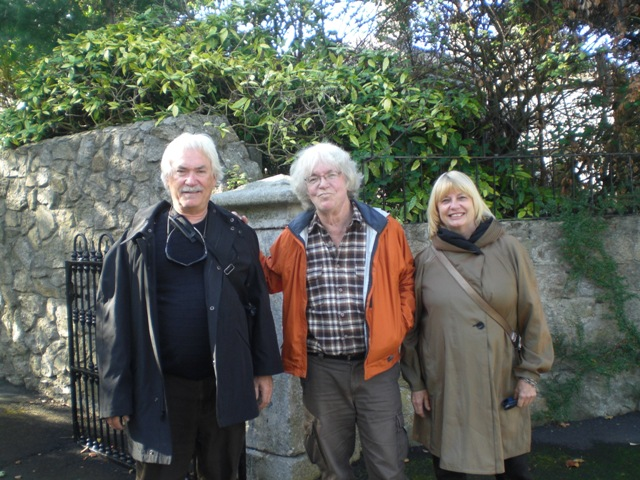 With Professors Larry McCaffrey and Sinda Gregory in Ireland